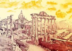 Fori imperiali - roma scavi